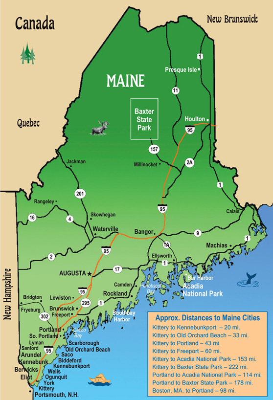 map of southern maine towns Tourist Town Map Chambers Of Commerce Towns map of southern maine towns